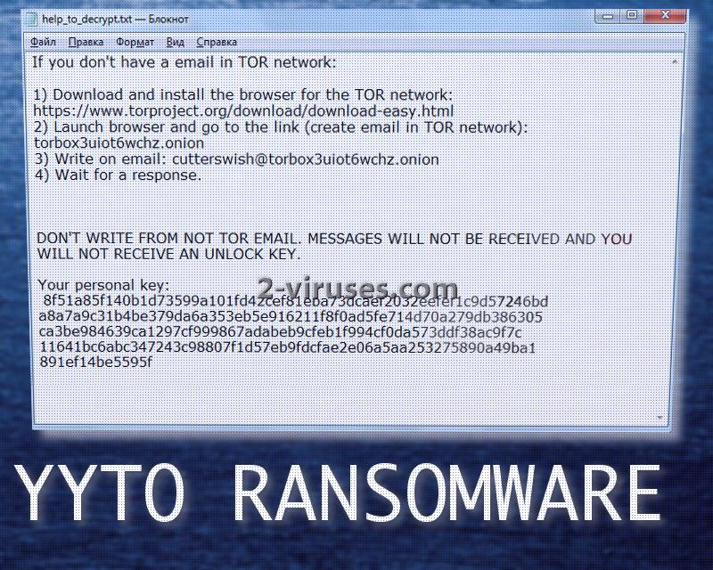 YYTO ransomware