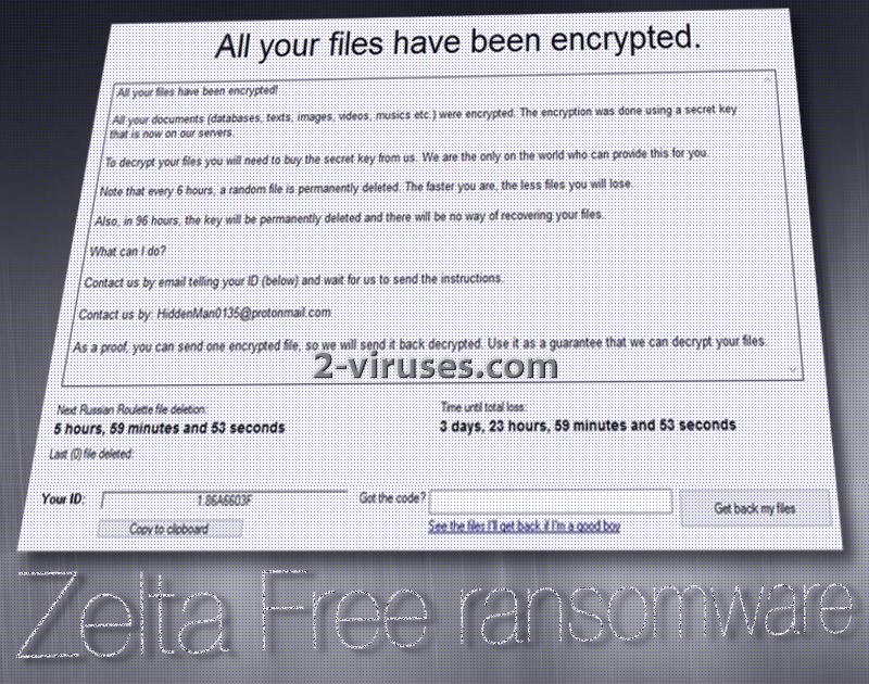Zelta ransomware virus