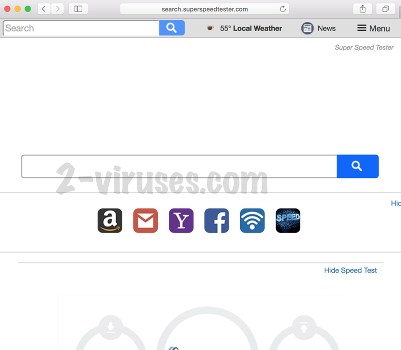 Search.superspeedtester.com virus remove