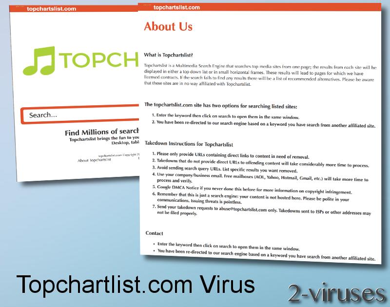 Topchartslist.com virus remove
