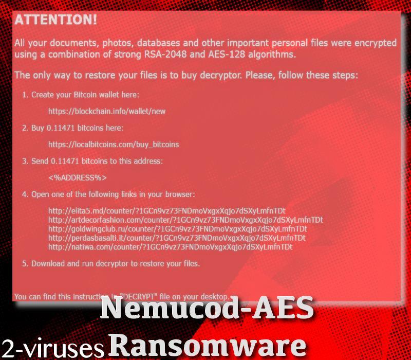 Nemucod-AES ransomware virus