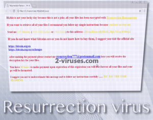 Resurrection virus