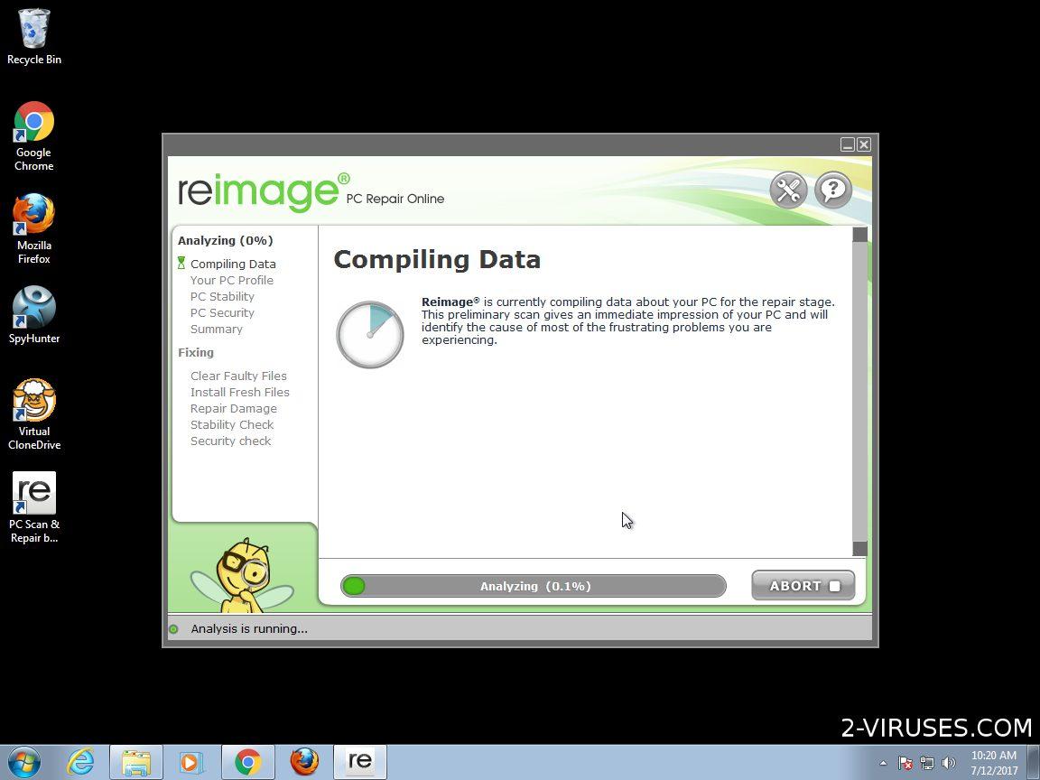 is reimage repair a virus