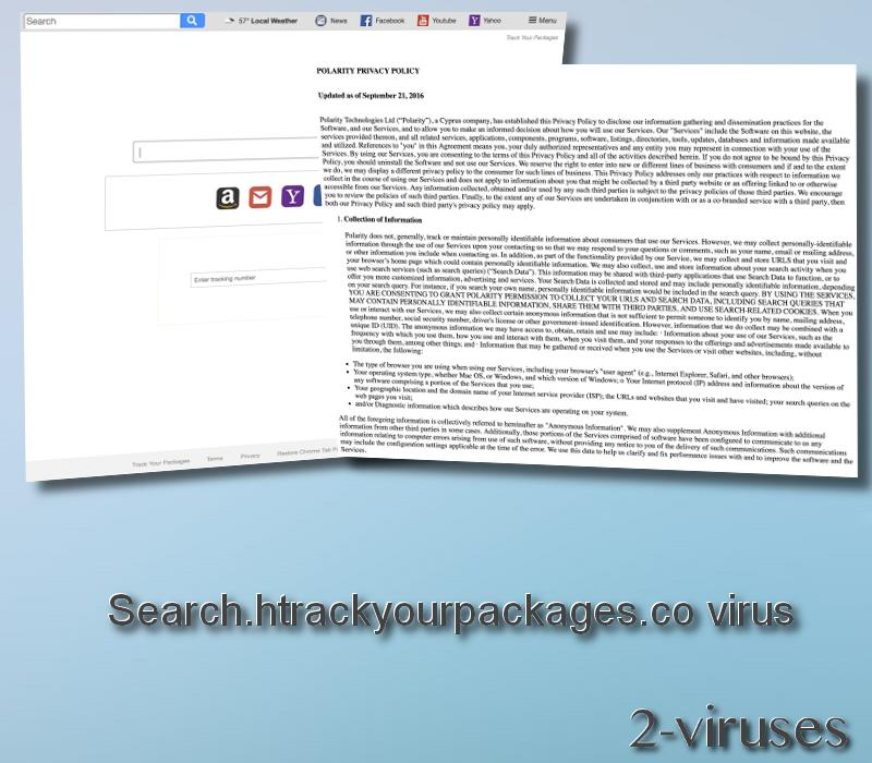 Search.htrackyourpackages.co virus remove