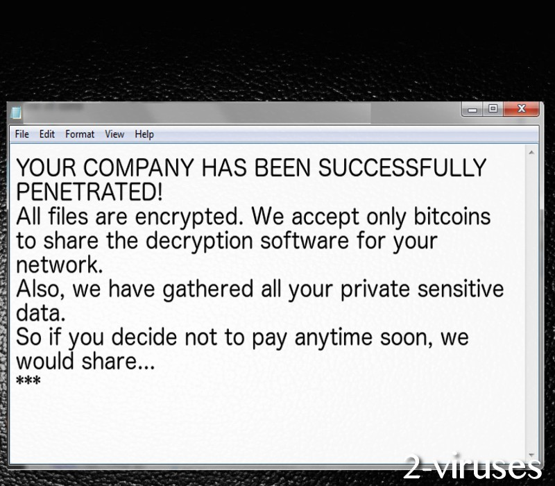 BitPaymer virus note
