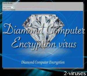 Diamond Computer Encryption ransomware virus