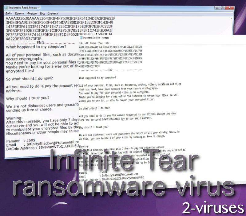 Infinite Tear ransomware virus