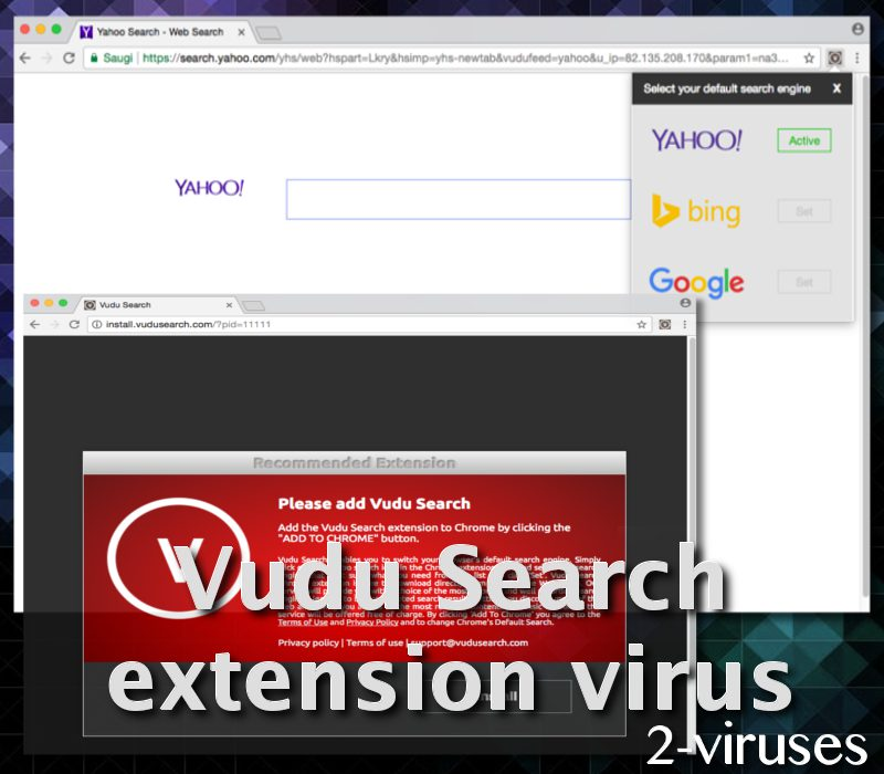 Vudu Search extension virus