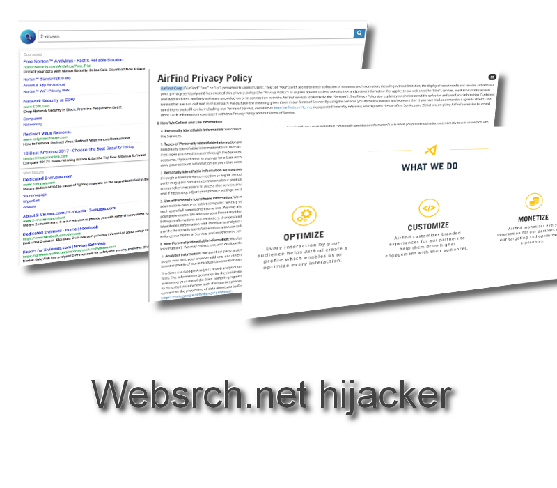 Websrch.net hijacker virus remove