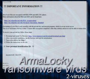 ArmaLocky ransomware virus