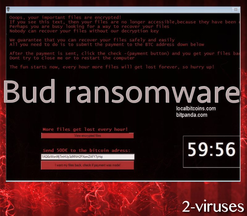 Bud ransomware virus