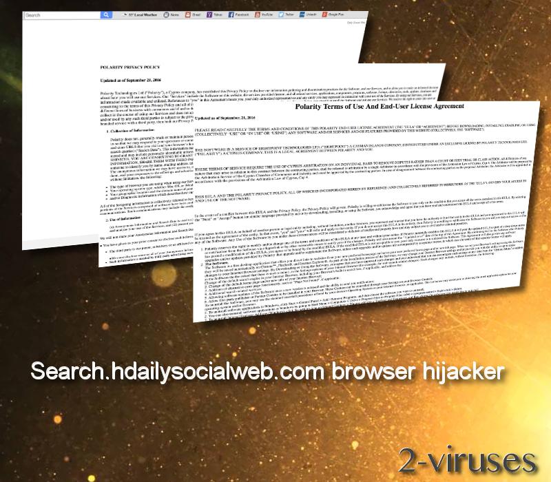 Search.hdailysocialweb.com browser hijacker