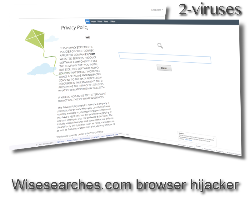 Wisesearches.com browser hijacker remove