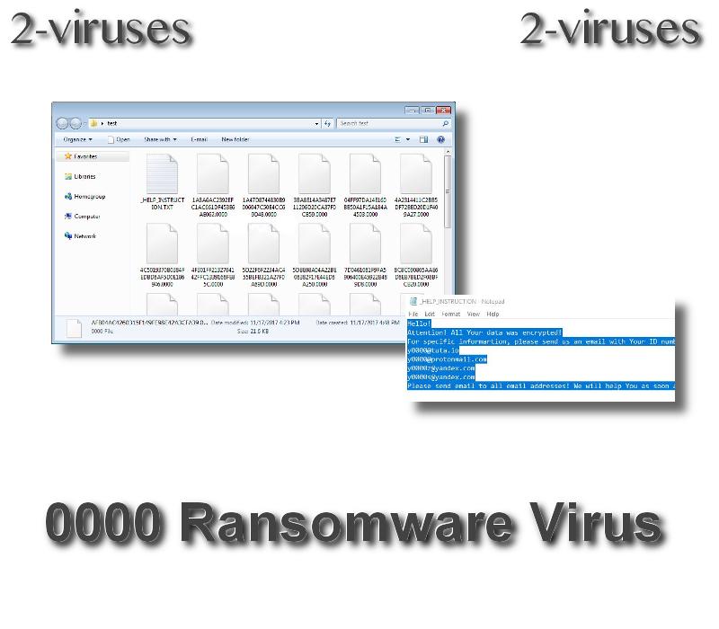 0000 ransomware virus - How to remove - 2-viruses com
