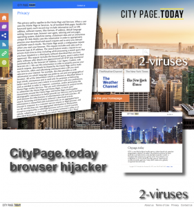 CityPage.today browser hijacker