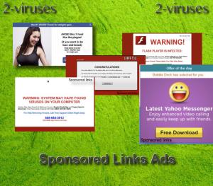 Sponsored links virus