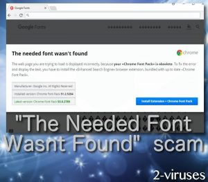 """The needed font wasn't found"" scam"