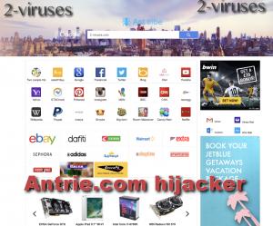 Antrie.com hijacker
