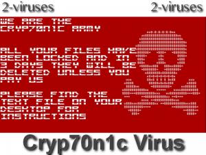 Cryp70n1c Virus