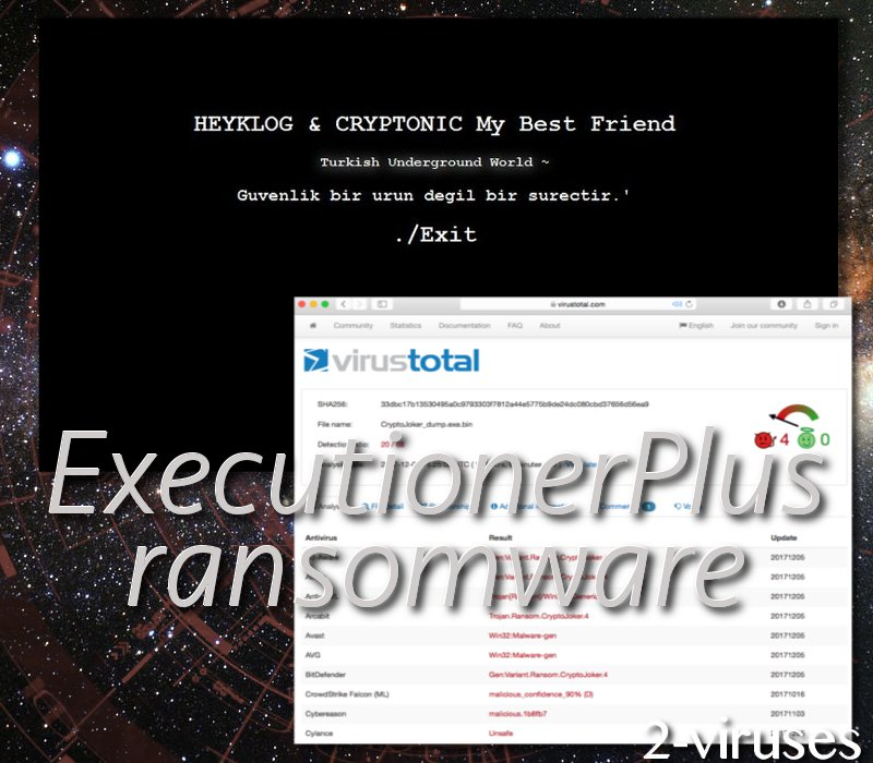 ExecutionerPlus ransomware