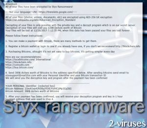 Styx ransomware