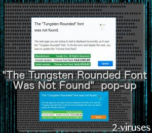 """""""The Tungsten Rounded Font Was Not Found"""" pop-up"""