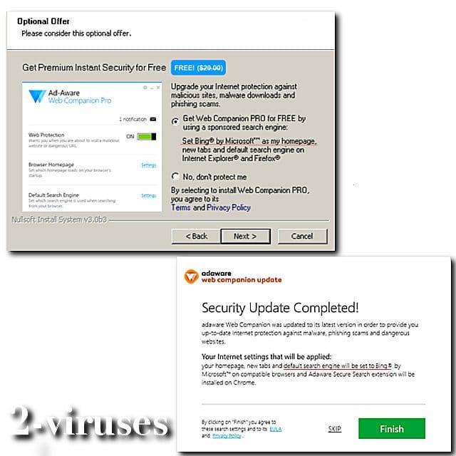 Web Companion - How to remove - 2-viruses com