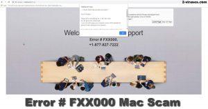 Error # FXX000 Mac Scam