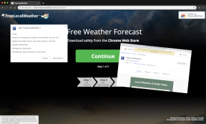 FreeLocalWeather Extension