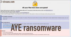 AYE ransomware