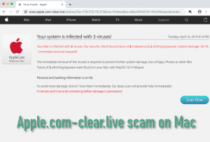 Apple.com-clear.live scam on Mac