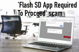 'Flash SD App Required To Proceed' scam