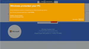 'Windows protected your PC' scam
