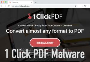 1 Click PDF Malware
