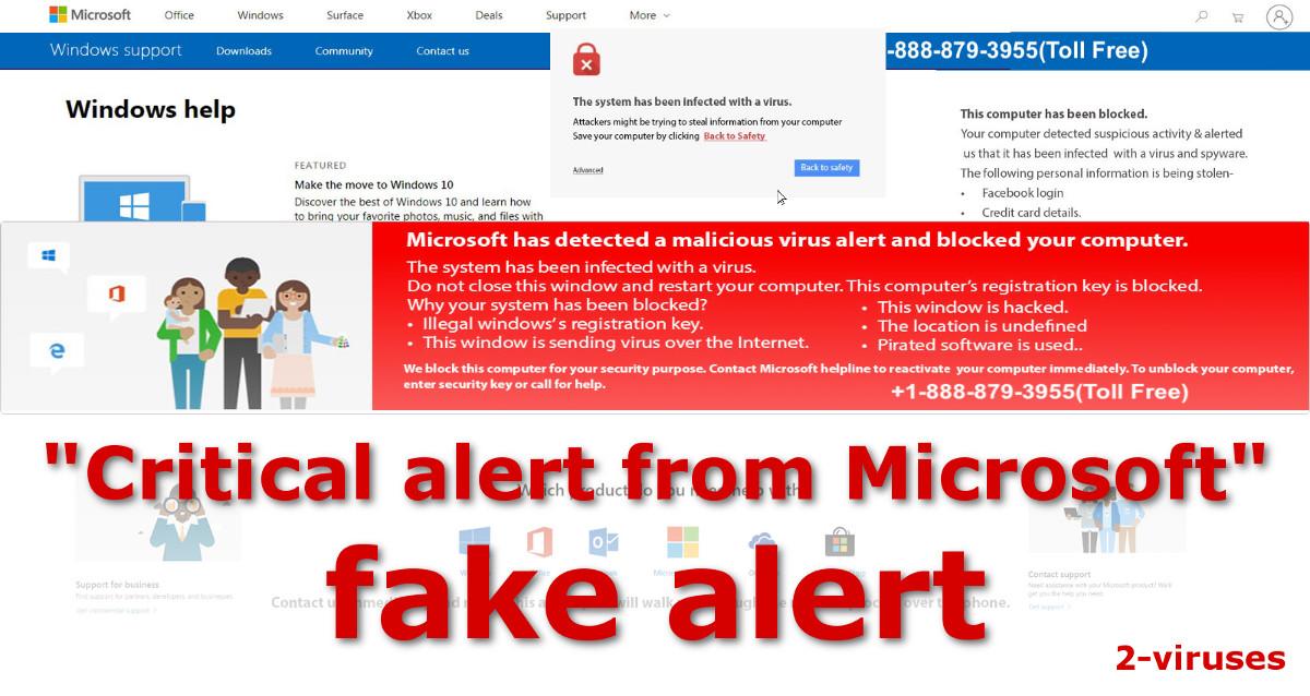 Critical alert from Microsoft