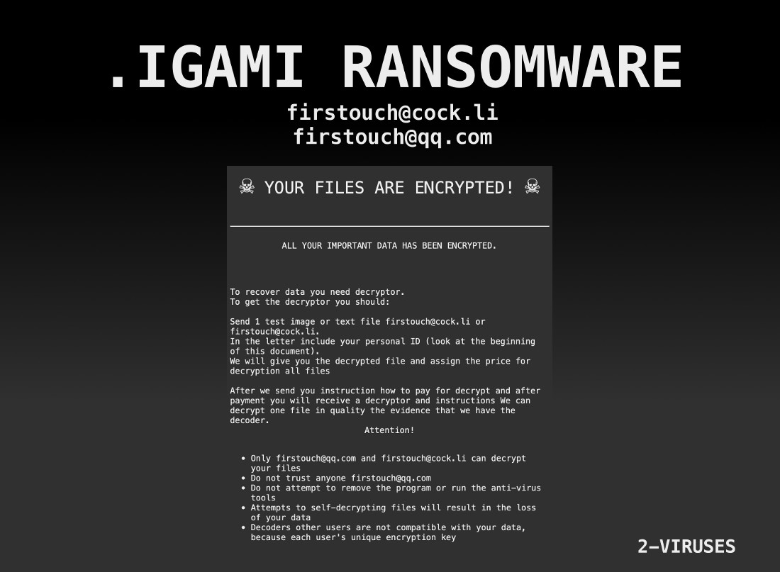 IGAMI Ransomware - How to remove - 2-viruses com