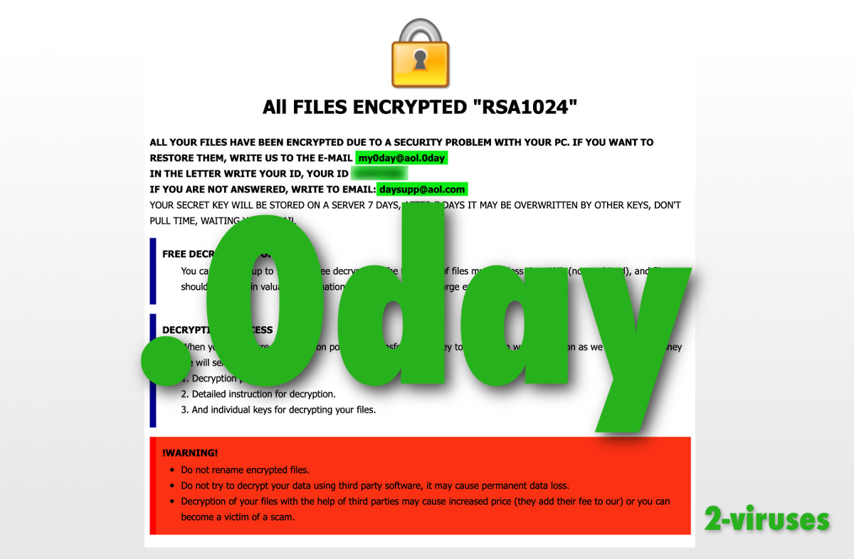 0day Ransomware – How to remove – Dedicated 2-viruses com