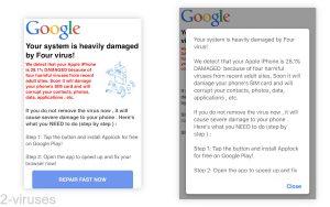 """Fake Alerts - """"Four Virus"""""""