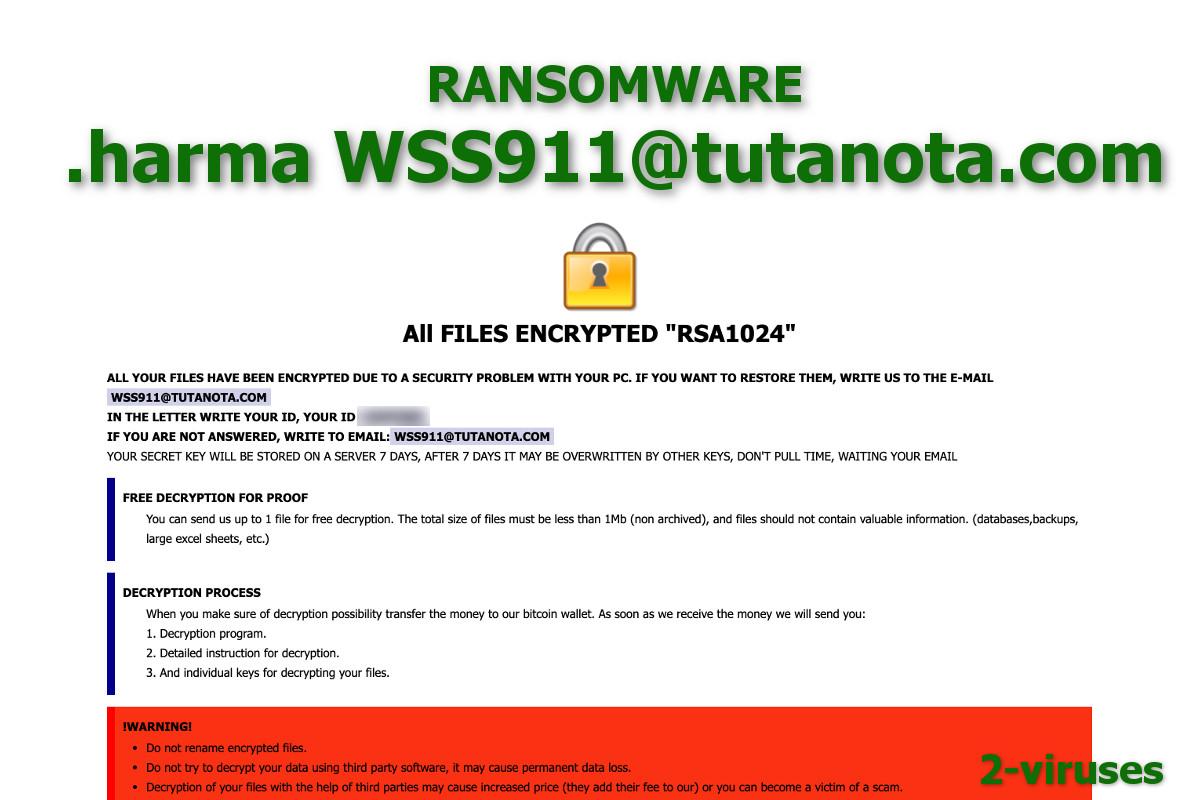 Harma ransomware - How to remove - 2-viruses com