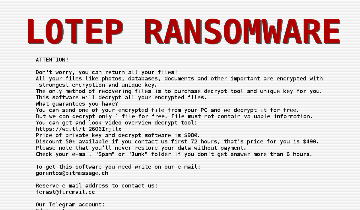 LOTEP ransomware - How to remove - 2-viruses com