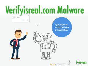Verifyisreal.com Malware
