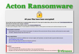 Acton Ransomware
