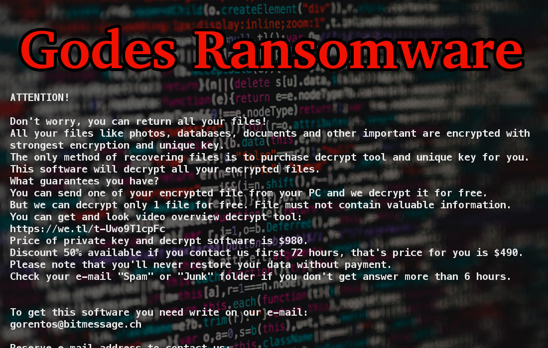 Godes Ransomware - How to remove - 2-viruses com