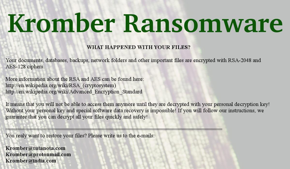 Kromber Ransomware - How to remove - 2-viruses com
