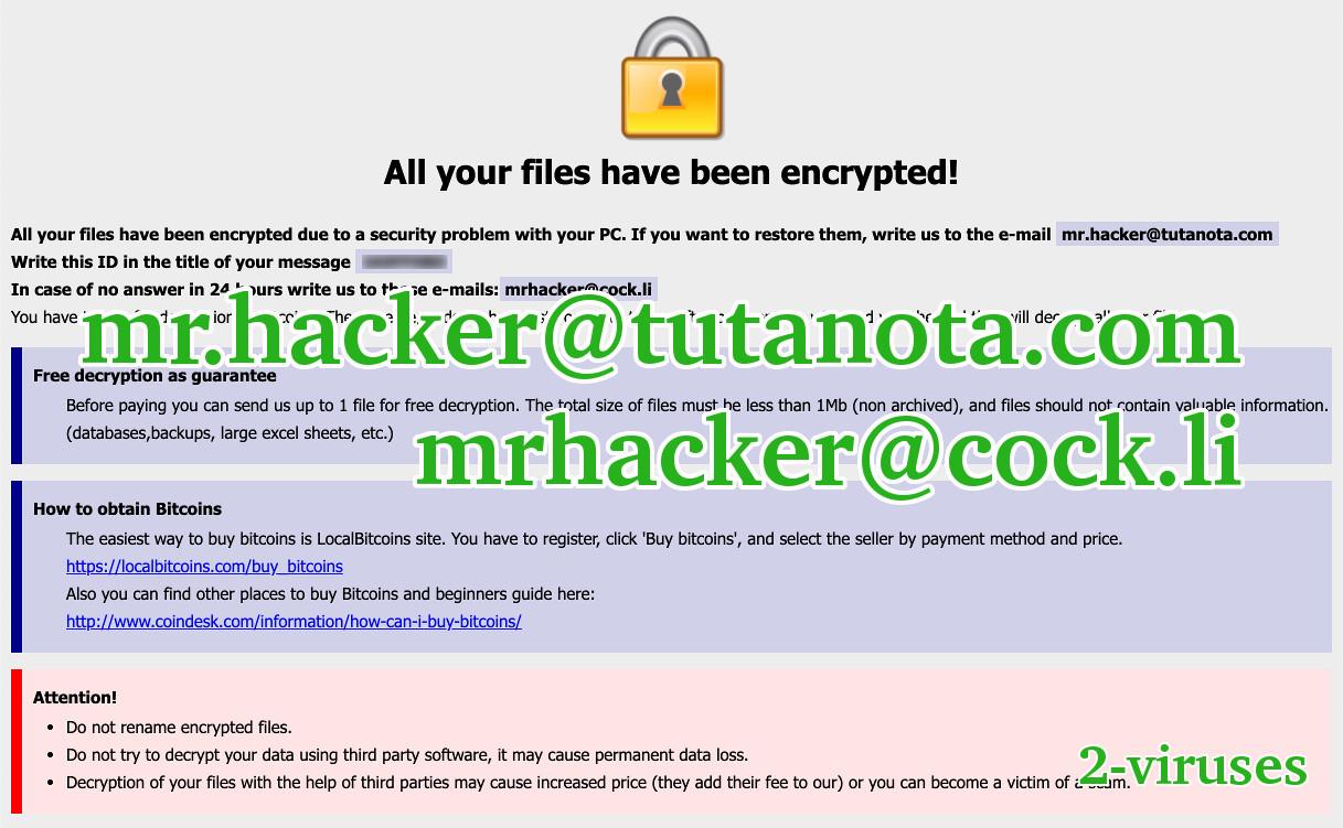 mr hacker@tutanota com] USA - How to remove - 2-viruses com