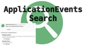 ApplicationEvents Search