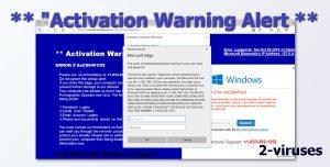 """Activation Warning"" Pop-up"