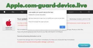 Apple.com-guard-device.live Scam