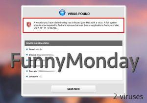 FunnyMonday Fake Virus Alerts