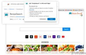RecipeSearch New Tab
